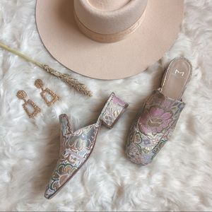 MARC FISHER LTD Lailey Pink Floral Mules